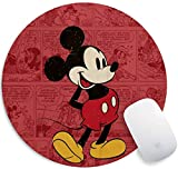 Gaming Mouse Pad , Personalized Design Mousemat Non Slip Rubber Mouse Pads Office Round Mouse Mat (Mickey)