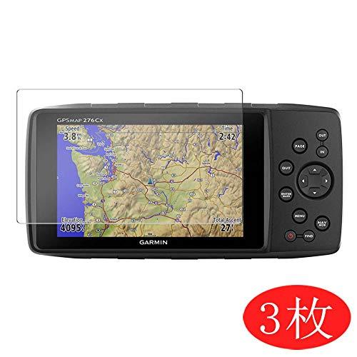 VacFun 3 Piezas HD Claro Protector de Pantalla para Garmin GPSMAP 276Cx 5in, Screen Protector Sin Burbujas Película Protectora (Not Cristal Templado)