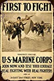 Jesiceny New Tin Sign US Marine Corps First to Fight Vintage Look Aluminum Metal Sign 8x12 Inches