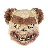 Maschera di orso sanguinante in peluche Maschera facciale spaventosa Costume da Halloween Fancy Dress Maschera da festa La misura adatta per la maggior parte delle persone, comoda da indossare. L'orso insanguinato ha un aspetto vivido e realistico e ...