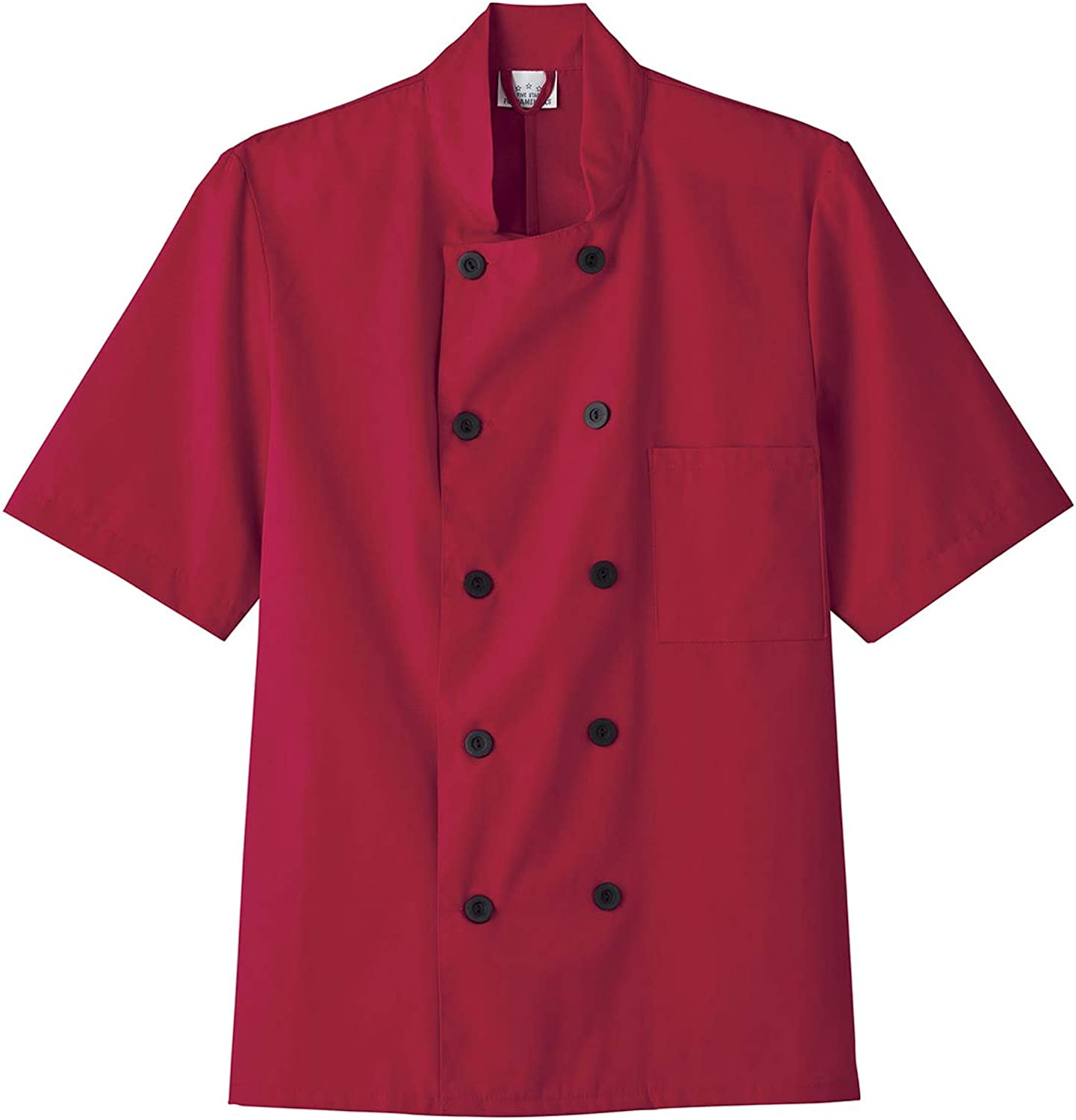 Five Star Rapid rise 18001 18025 Unisex Short Chef Max 50% OFF Red Coat 3XL Sleeve