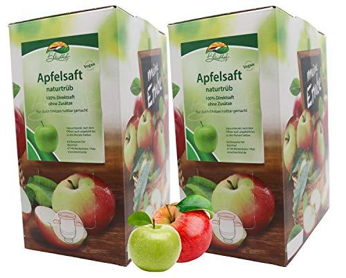 Bleichhof Apfelsaft naturtrüb - 100% Direktsaft, vegan, OHNE Zuckerzusatz, Bag-in-Box (2x 3l Saftbox)