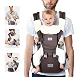 SIMBR Baby Carrier Newborn to Toddler (3-36 Months) with Hip Seat, Convertible 12-in-1 Ways to Carry Backpack Use, Adjustable Size for Men and Women, Ergonomic Design 360° Safety, Outdoor Hiking