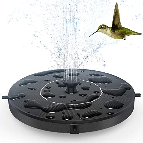 GOLDFLOWER Solar Fountain, Floating Solar Powered Water Fountain Pump for...