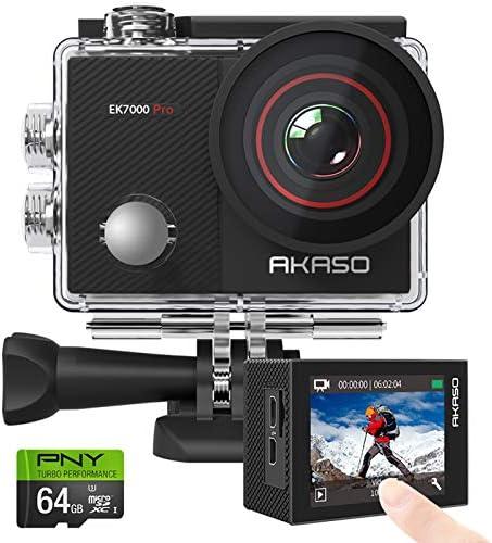 AKASO EK7000 Pro 4K Action Camera PNY Elite X 64GB U3 microSDHC Card Bundle product image
