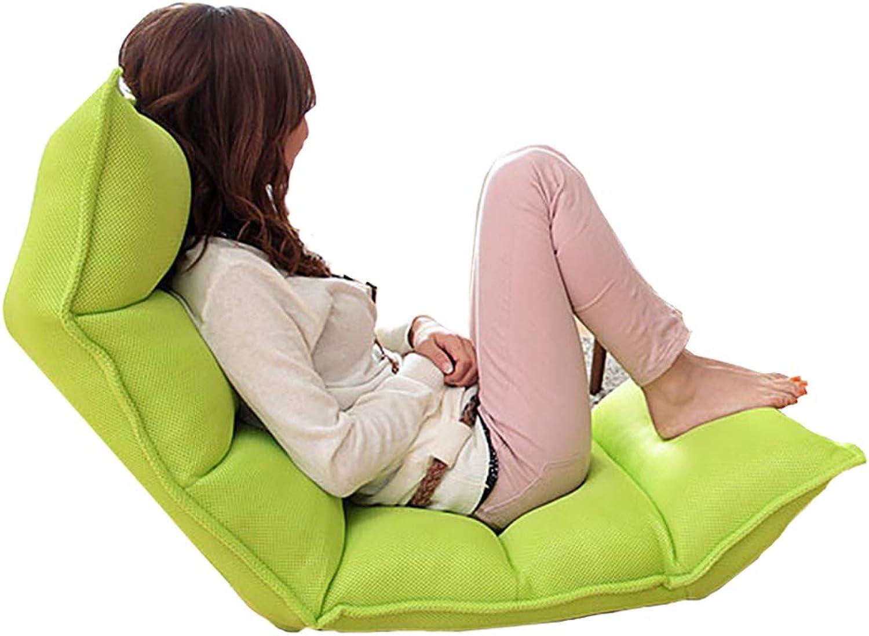 Faules Sofa YXX Faltendes einzelnes Loungesessel für Schlafzimmer u. Balkon, Wohnzimmer-VideGoldcker-Spielstuhl (Farbe   Grün)