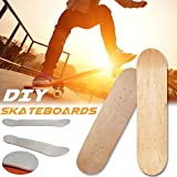 Blank Skateboards Adultos Y Niños Cruiser Scooter Cóncavos Deck BoardTabla De Skate De Alta Elasticidad 8 Capas Arce Blanco Doble Cóncavo Tabla De Skate Tabla De Skate...