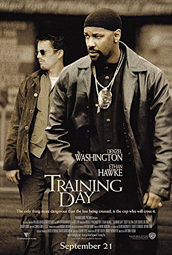 TRAINING DAY (2001) Original Authentic Movie Poster 27x40 - Single-Sided - Denzel Washington - Ethan Hawke Scott Glenn - Tom Berenger