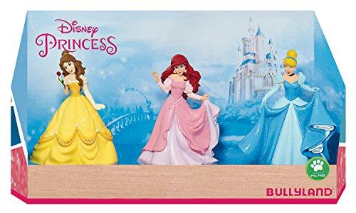 Bullyland 13245 - Spielfigurenset, Walt Disney Prinzessinnen in Geschenk Box, 3 teilig, liebevoll handbemalte Figuren, PVC-frei, tolles Geschenk für Jungen und Mädchen zum fantasievollen Spielen