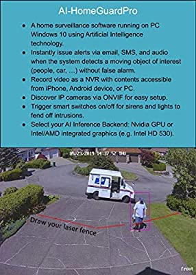 AI-HomeGuardPro (Windows 10) Surveillance Software Using Artificial Intelligence Technology and Smart Switches to Protect Your Home and Loved Ones