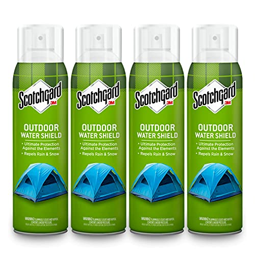 Scotchgard Heavy Duty Water Shield, Repels Water, Ideal For Outerwear, Tents, Backpacks, Canvas, Polyester And Nylon, 10.5 Oz Can- Pack of 4 (42 Ounces Total)