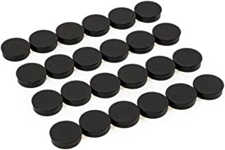 Bullseye Office Magnets (24 Pack) - Black Round, Refrigerator & Classroom Magnets - Perfect as Whiteboards, Lockers, or Fr...