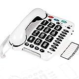Geemarc CL100- Teléfono con cable Senior – Botones grandes –...