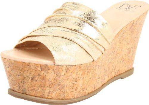 Diane von Furstenberg Women's Palm Wedge Sandal,Platino,8.5 M US