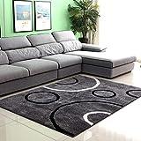 qazxsw Verdickte helle Seidenteppiche Wohnzimmer Rutschfester Teppich Fusselfreie Schlafzimmer-Nachttischmatten im modernen Stil