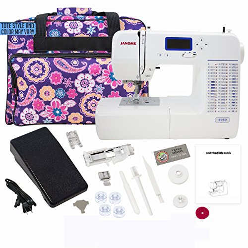 Janome 8050 Computerized Sewing Machine with Machine Tote