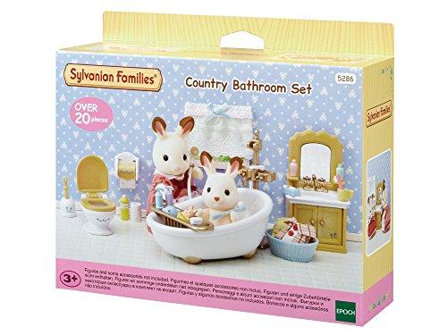 Sylvanian Families - Le Village - Le Set Salle de Bains - 5286 - Meubles et Accessoires Poupée - Mini Poupées