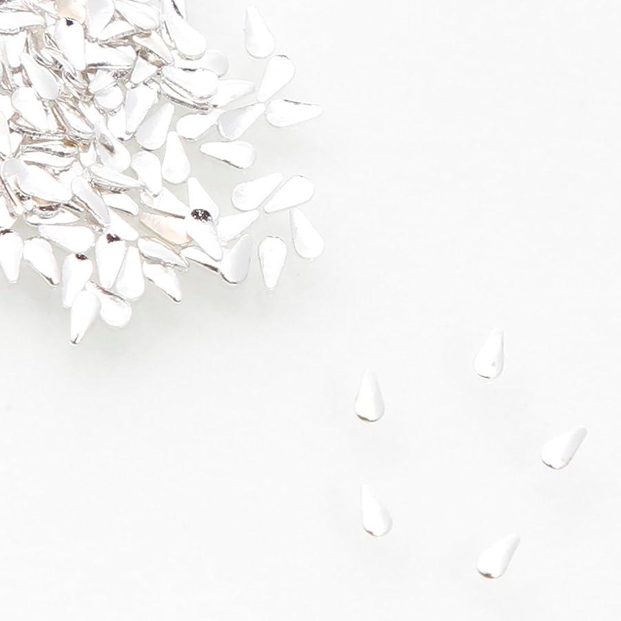 回転マークダウンベーカリー厳選 スタッズ ドロップ シルバー (2mm×1mm)【ラインストーン77】