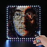 BRIKSMAX Kit de iluminación LED Lego Art Los Beatles - Compatible con Lego 31198 Building Blocks Model- No incluir el Conjunto de Lego(Versión de Control Remoto)