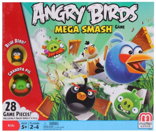 Mattel Angry Birds Mega Smash Game, Multi Color