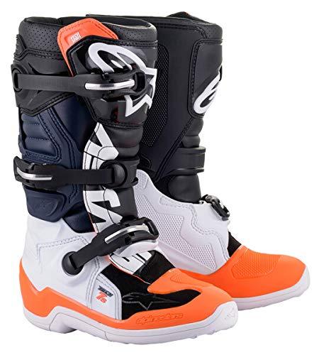 Alpinestars Unisex-Erwachsene Tech 7S Stiefel Schwarz/Weiß/Orange Fluo Größe 05 (Mehrfarbig, Einheitsgröße
