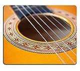 Not Applicable Tapis de Souris Tapis de Souris en Caoutchouc Naturel Détail d'une Guitare Acoustique Folk