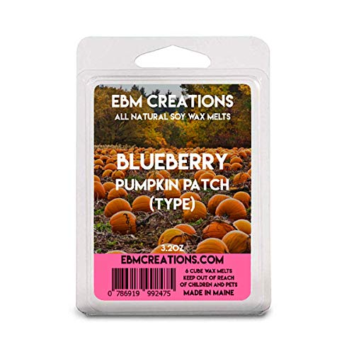Blueberry Pumpkin Patch (Type) - Scented All Natural Soy Wax Melts - 6 Cube Clamshell 3.2oz Highly Scented!