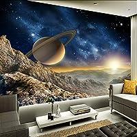 Lcymt 壁画壁紙3Dステレオプラネットムーン壁画レストランクラブKtvバーモダンな装飾壁紙-400X280Cm