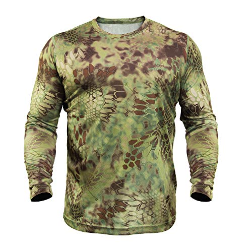 Kryptek Hyperion Long Sleeve Camo Shirt - Lightweight, Birds-Eye Mesh for Hunting & Fishing Shirt...