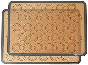Amazon Basics Silicone Non-Stick Food Safe Baking Mat Macaron - Pack of 2