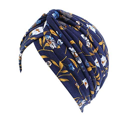 Vobony Quimioterapia Turbante Mujer Cómodo Pañuelo Para Cabeza Quimio Bandana Gorro Oncológico para Cancer Pérdida de Cabello Headwear (#13) ⭐