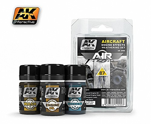 AK Interactive - Aircraft Engine Effects Weathering Set