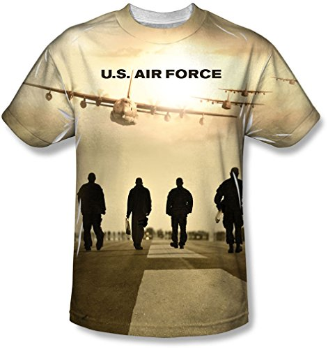 Air Force - - Longue Marche jeunesse T-Shirt, X-Large, White
