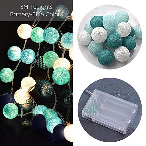 Teabelle luces Decoración de la habitación LED Guirnalda Guirlande Fairy LED Luces de bolas de algodón DIA 6 CM Bola de algodón Bola Luces LED Regalos de cumpleaños Decoración de la fiesta