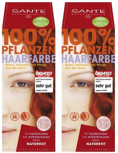 Sante Pflanzenhaarfarbe Haarfarbe im Doppelpack naturrot 2 x 100 g im Set für ein tolles Farberlebnis