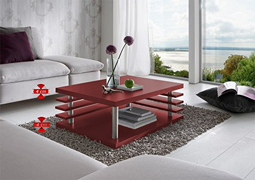 Couchtisch Lamelly Slim 2008-KF-RUG-RUG | In Rot | 87 x 67 x 35 cm | von Regalwelt