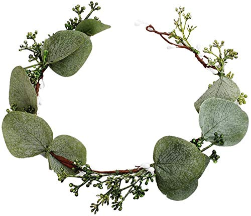 Bridal Flower Headpiece, Crown Twisted Branches and Leaves Forest Garland Headband