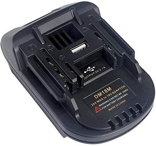 DM18M-Batterieadapter für Makita 18V-Lithium-Ionen-Elektrowerkzeuge, Konvertieren Milwaukee 18V- oder Dewalt 20V-Lithium-Ionen-Akkus in Makita 18V-Lithium-Ionen-Akkus