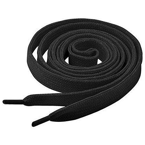 1 Paar Collonil Schnürsenkel - flach - 9 mm breit - verschiedene Farben und Längen (120 cm, schwarz)
