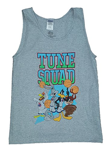 Space Jam Tune Squad Looney Tunes Gray Tank Top - Large