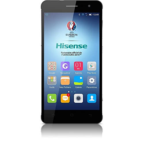 "Hisense C20 Smartphone 5"" HD, Android 5.1 Lollipop, 32 GB ROM, 3 GB RAM, Nero"