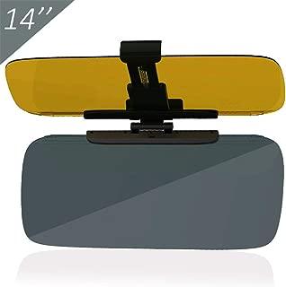 Car Windshield Anti-Glare Visor Extender, 2 in 1 Extra Large for UV Day Light/Night Scattering Glare Filtering, Windshield Extender for Car (Yellow & Grey)