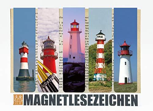 Lesezeichen Leuchtturm Magnetische Lesezeichen 5 Stück 10 x 2,5 cm Schule Page Seiten Marker Book Marks Mitgebsel Nordsee Leuchttürme Romantisch Maritim