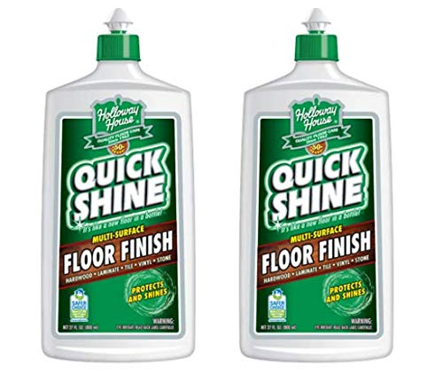 Quick Shine Floor Finish, 27 fl oz - 2 Bottles