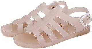 Women's Flat Jelly Sandals Open Toe Buckled Slingback Waterproof Beach Gladiator Strappy Sandal
