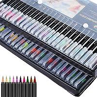 水性インク水彩マーカードローイングペンのぬりえブラシペンデュアルチップマーカーアート用品のヒントフェルト 発色が鮮やかで細やかな描きに優れ (Color : 20 Color)