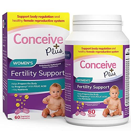 CONCEIVE PLUS Prenatal Vitamins Women   30-Day Supply   Folic Acid, D3, Zinc, Inositol   Prepare for Pregnancy Pills   Conception Fertility Support Supplement (60 Capsules)