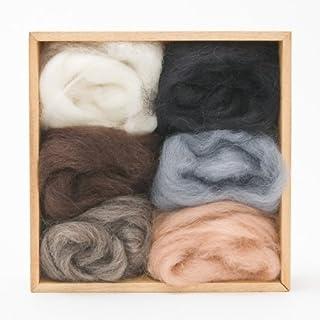 Woolpets, Wool Roving 6-Pack Set, Neutral Colors, 1.5 oz Bag, 5106, 907170051064