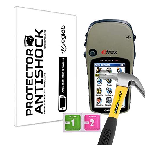 Protector de Pantalla Anti-Shock Anti-Golpe Anti-arañazos Compatible con GPS Garmin eTrex Summit HC