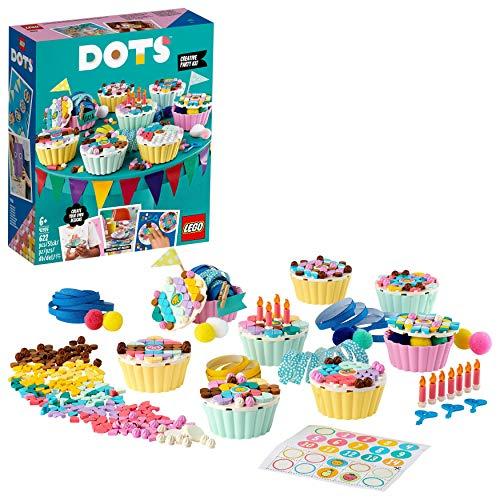 LEGO DOTS Kit Party Creativo con Cupcake e Decorazioni Fai da Te, Regalo di Compleanno, Kit...
